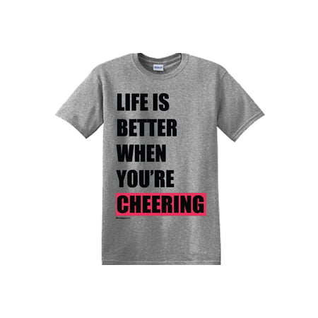 Image Sport Cheerleading Life is Better When You're Cheering Graphite Heather - Womens Graphite Grey Heather