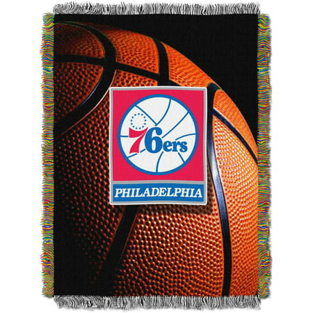 "NBA 48"" x 60"" Photo Real Series Tapestry Throw, 76ers"