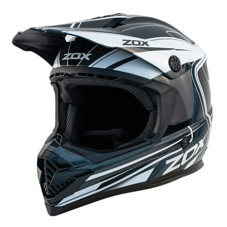 ZOX RUSH LUCID - Junior Youth Street Motocross Dirt Off-Road Motorcycle Helmet - Black - image 3 de 3