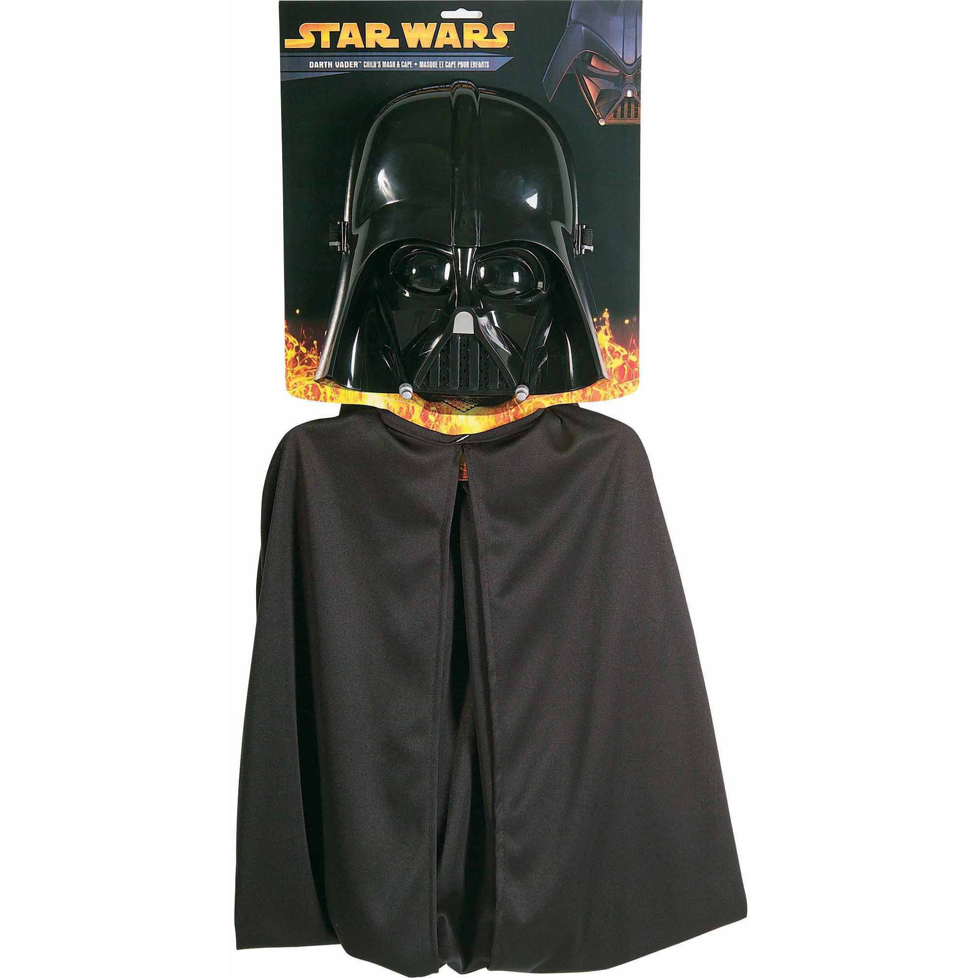 Darth Vader Mask and Cape Child Halloween Costume, M (6-12)