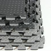 Clevr Extra-Thick EVA Foam Interlocking Gym Floor Mat, 12 pcs, 48 sq. ft.