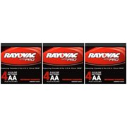 Rayovac Alkaline UltraPro AA Batteries - (12 Pack) 3 Boxes of 4 + 30% Off