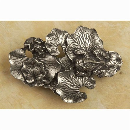 Bronze Frogs Lily Pad - Lily pad pull pull (Antique Bronze)
