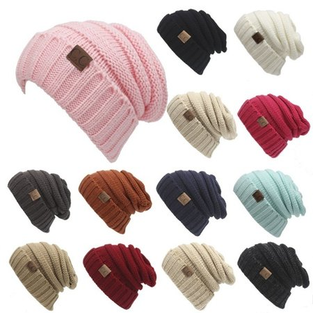 17 colors CC hat Adult Knitted hat Children Fold Wool hat Cap Unisex Casual Beanies solid Color Hip-Hop Skullies Outdoor winter hat](Camel Hat)