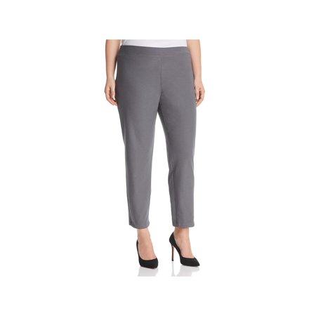 Eileen Fisher Womens Plus Slim Crepe Ankle Pants