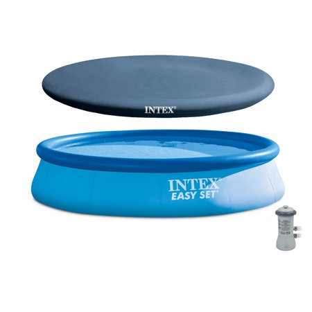 """Intex 13' x 32"""" Easy Set Above Ground Swimming Pool Kit & Filter Pump & Cover"""