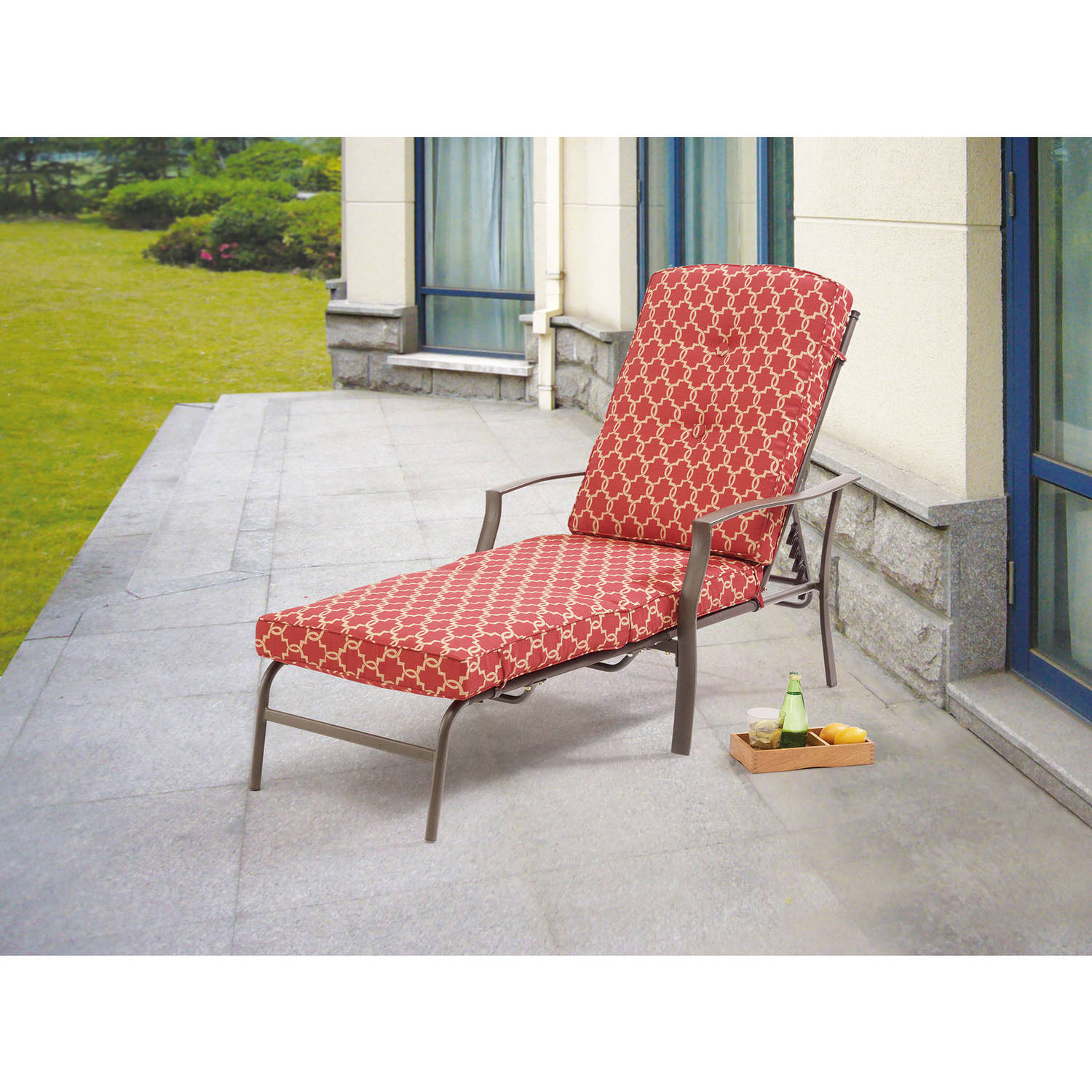 Delightful Jordan Manufacturing Outdoor Patio French Edge Chaise Cushion   Walmart.com