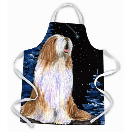 Starry Night Bearded Collie Apron
