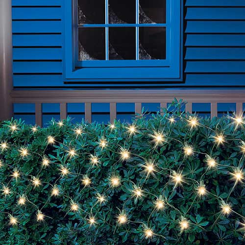 Holiday Time 150 Net Lights, Clear, Easy to Install Indoors or Outdoors
