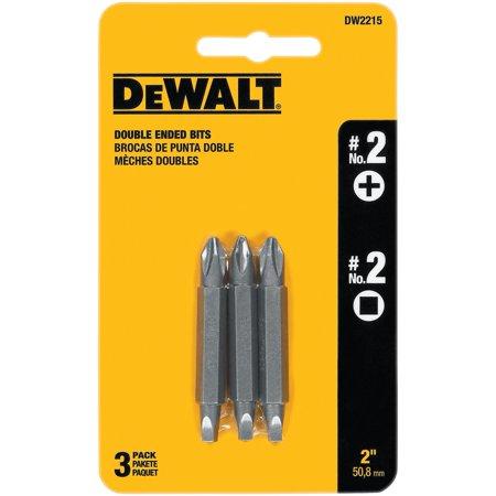 Double Ended Bit, #2, Phillips/Square Recess, Tool Steel Dewalt DW2215