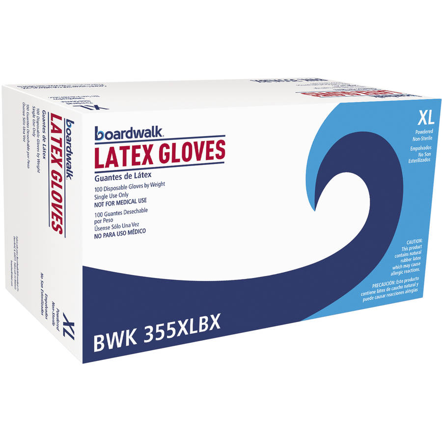Boardwalk General-Purpose Latex Gloves, X-Large, Natural, 100 count, (Pack of 10)