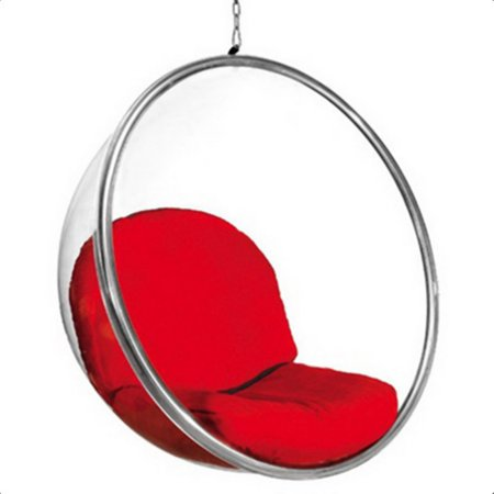 Fine Mod Imports Bubble Hanging Chair in Red