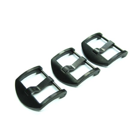 3-24MM STRAP THUMBNAIL TANG BUCKLE SCREW FOR PANERAI BLACK FIT RUBBER LEATHER