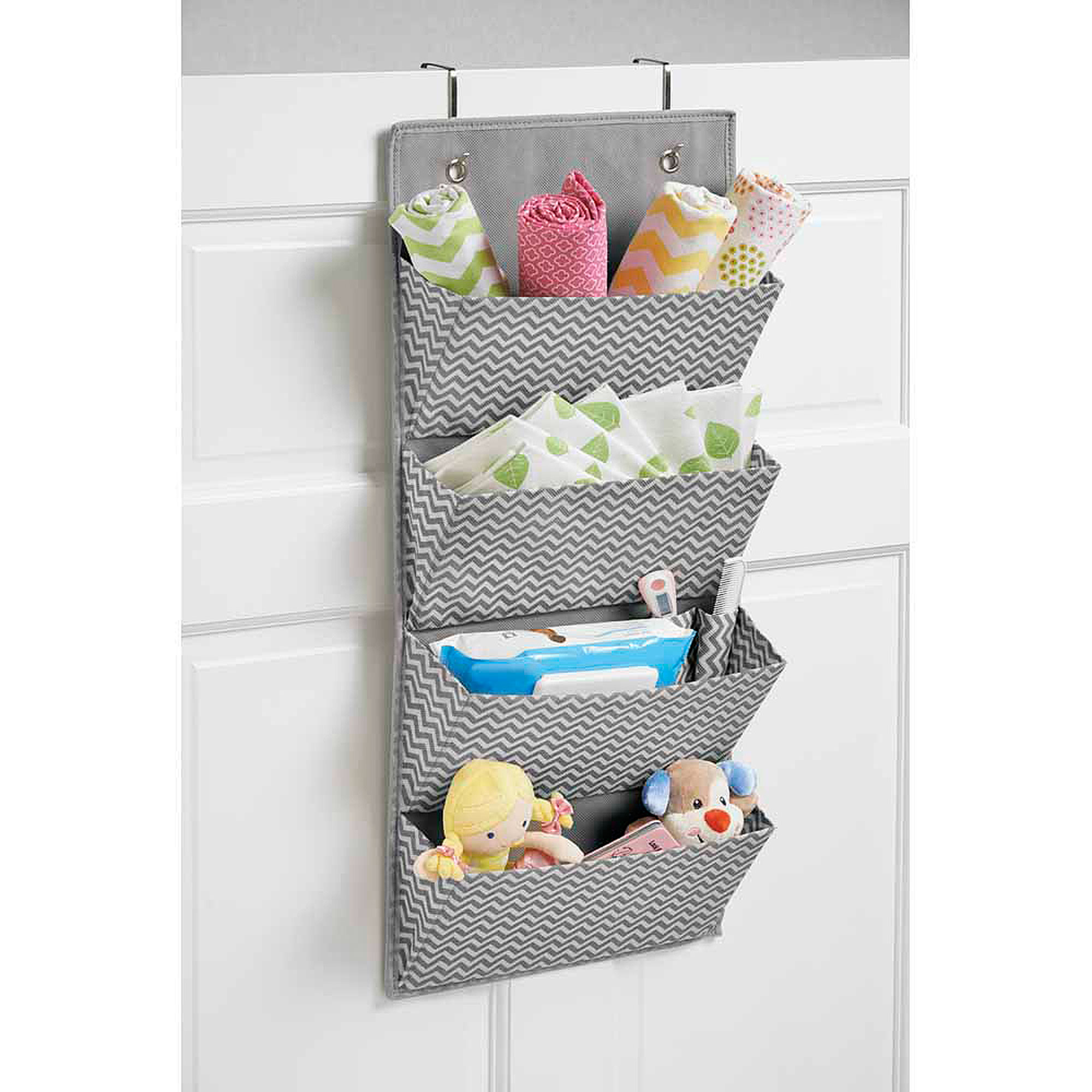 InterDesign Chevron Hanging 4Pocket Organizer Walmartcom