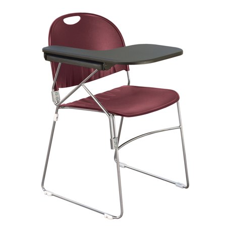 Kfi Sled School Chair Writing Tablet Burgundy Finish Right