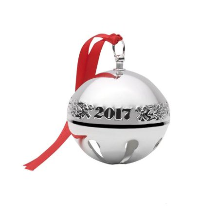 Wallace Sleigh Bell Silverplate - Wallace 2017 Silver Plated Sleigh Bell Ornament, 47th Edition