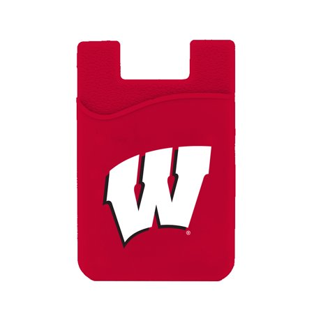Wisconsin Badgers Silicone Credit Card Keeper Phone Wallet NCAA
