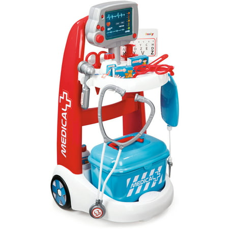 Kids Doctor Coat (Smoby Doctor Playset Trolley with Accessories and)