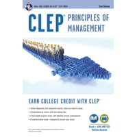 CLEP: CLEP(R) Principles of Management Book + Online (Paperback)