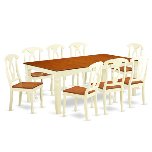 Darby Home Co Beesley 9 Piece Solid Wood Dining Set