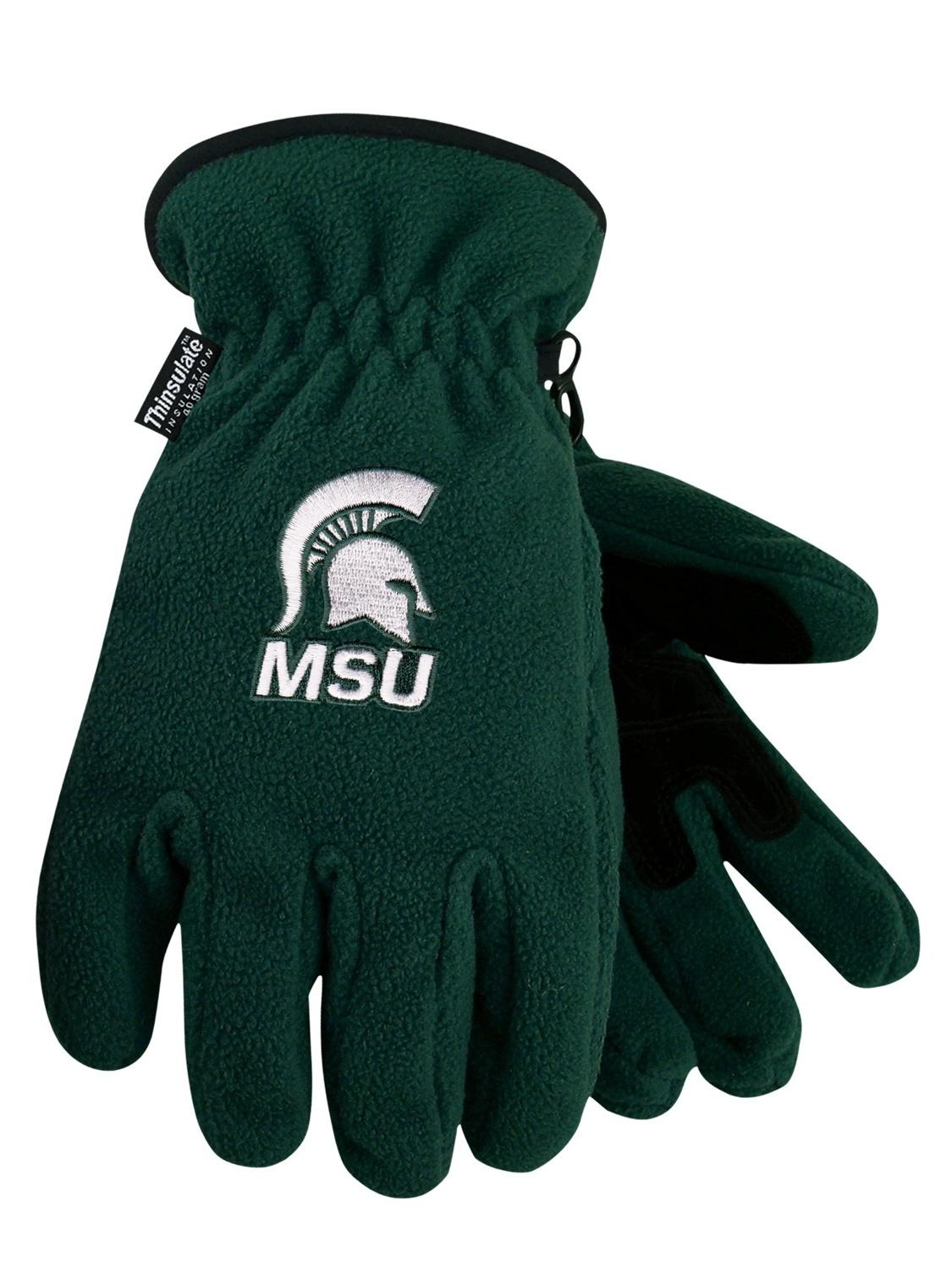 Michigan State University Heavy-Weight Fleece Gloves by