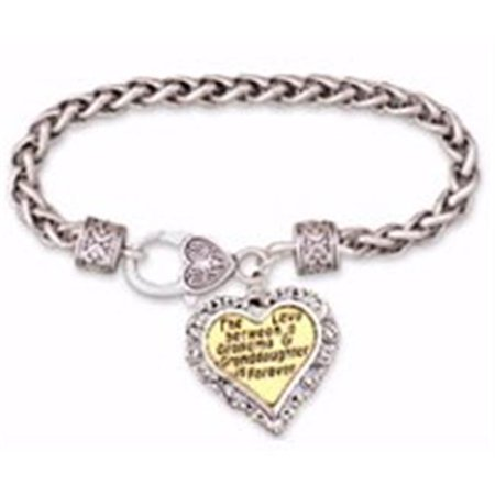 162753 7.5 in. Love Between a Grandma & Granddaughter & Heart (God's Heart Bracelet)
