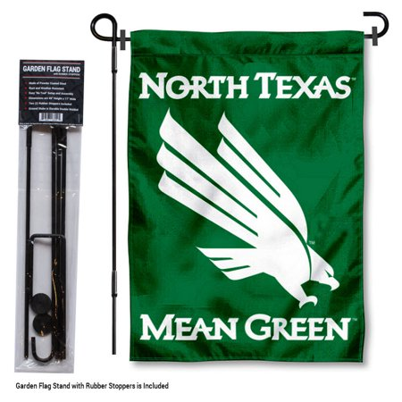 Green Garden Flag (UNT Mean Green Garden Flag and Flag Holder)