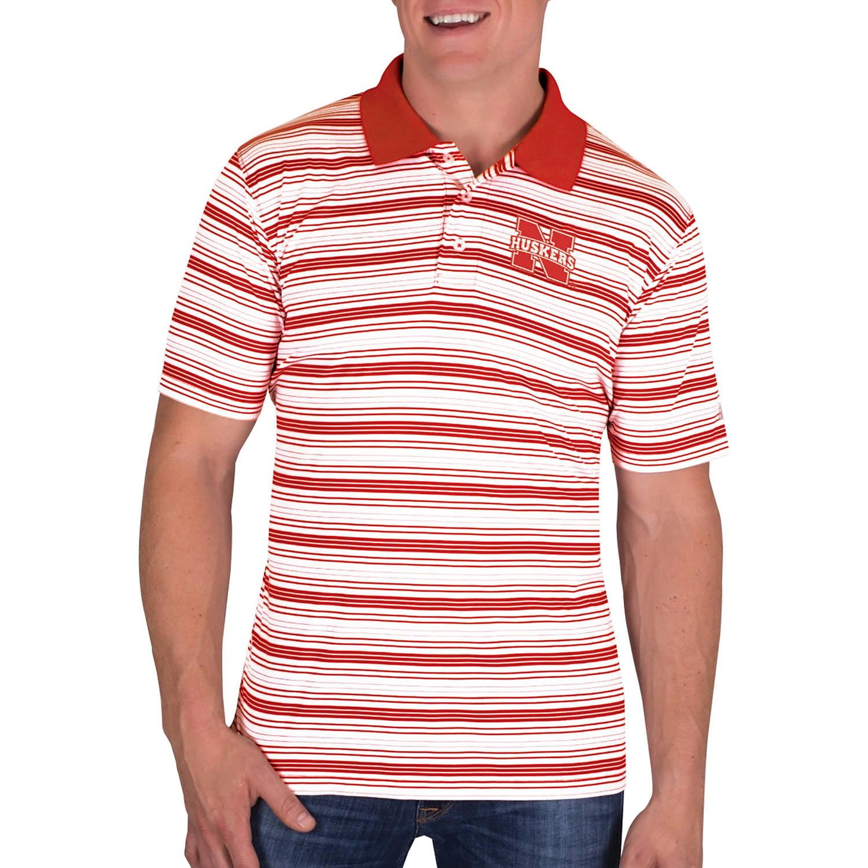 NCAA Nebraska Cornhuskers Men's Classic-Fit Striped Polo Shirt