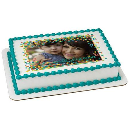 World's Best Mom Edible Caker Topper Frame