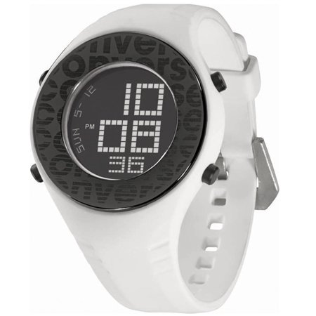 7a4beb503aee Converse - VR007-100 Men s Pickup Black Digital Dial White Rubber Strap  Alarm Watch - Walmart.com