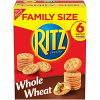 RITZ Crackers, Whole Wheat Flavor, 1 Family Size Box