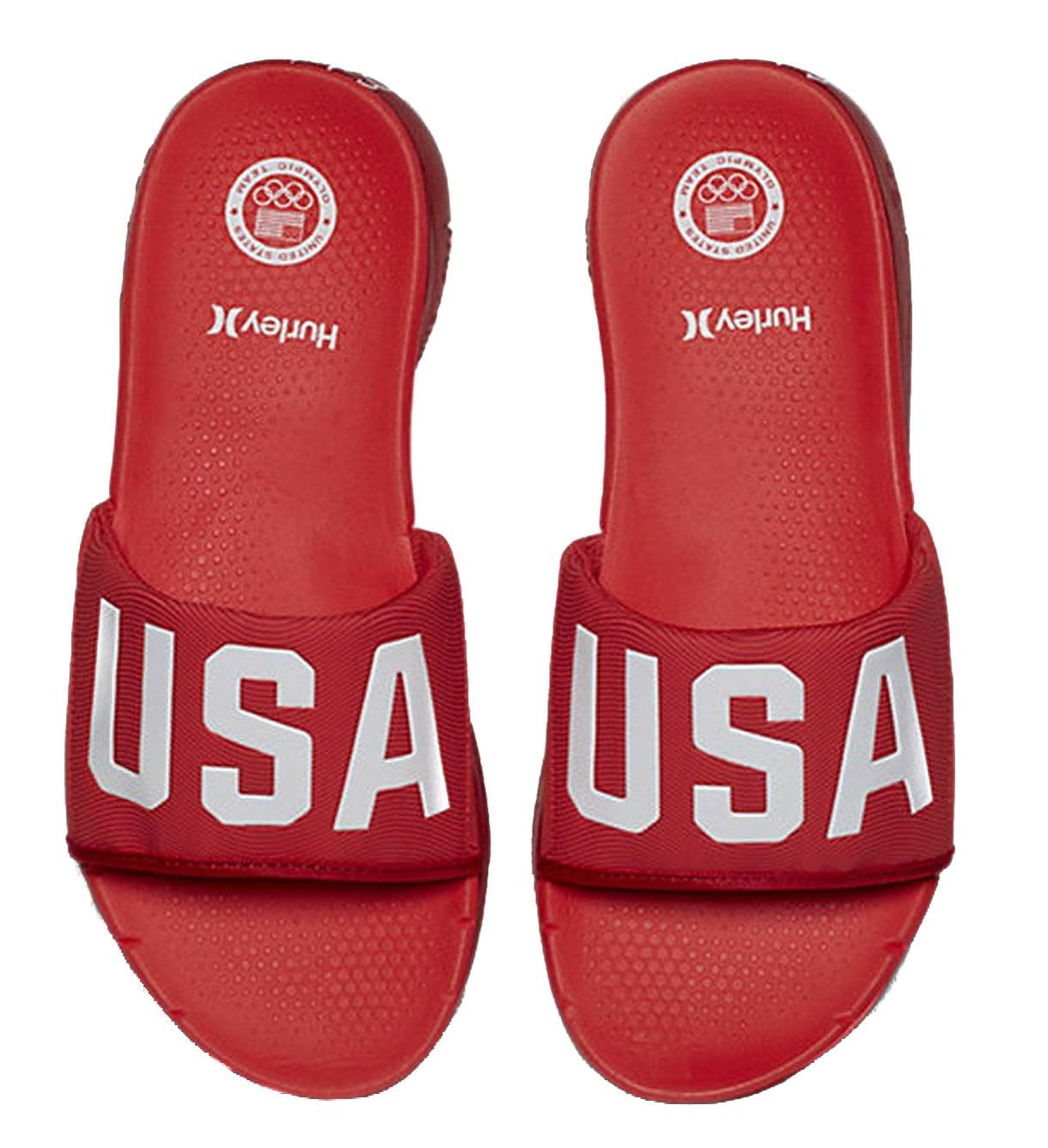 Hurley MSA0000290 Men's Phantom Free (USA) Slide Sandal, Gym Red