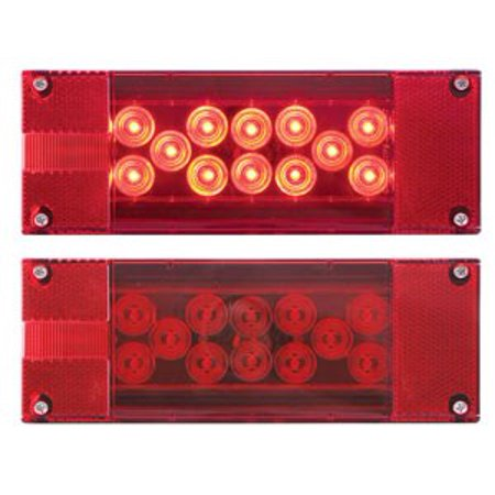 Optronics STL17RBP LED Driver Side Combination Trailer Tail Light with License Plate