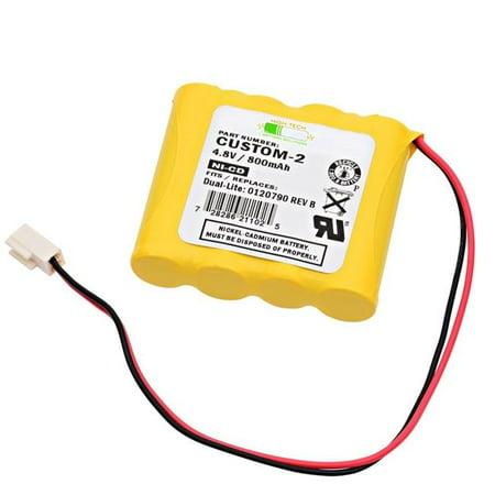 Dantona CUSTOM-2 Dual-Lite Replacement Emergency Light Battery - image 1 de 1