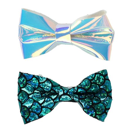 - Girl's Mermaid and Iridescent Hair Clips (Pack of 2)
