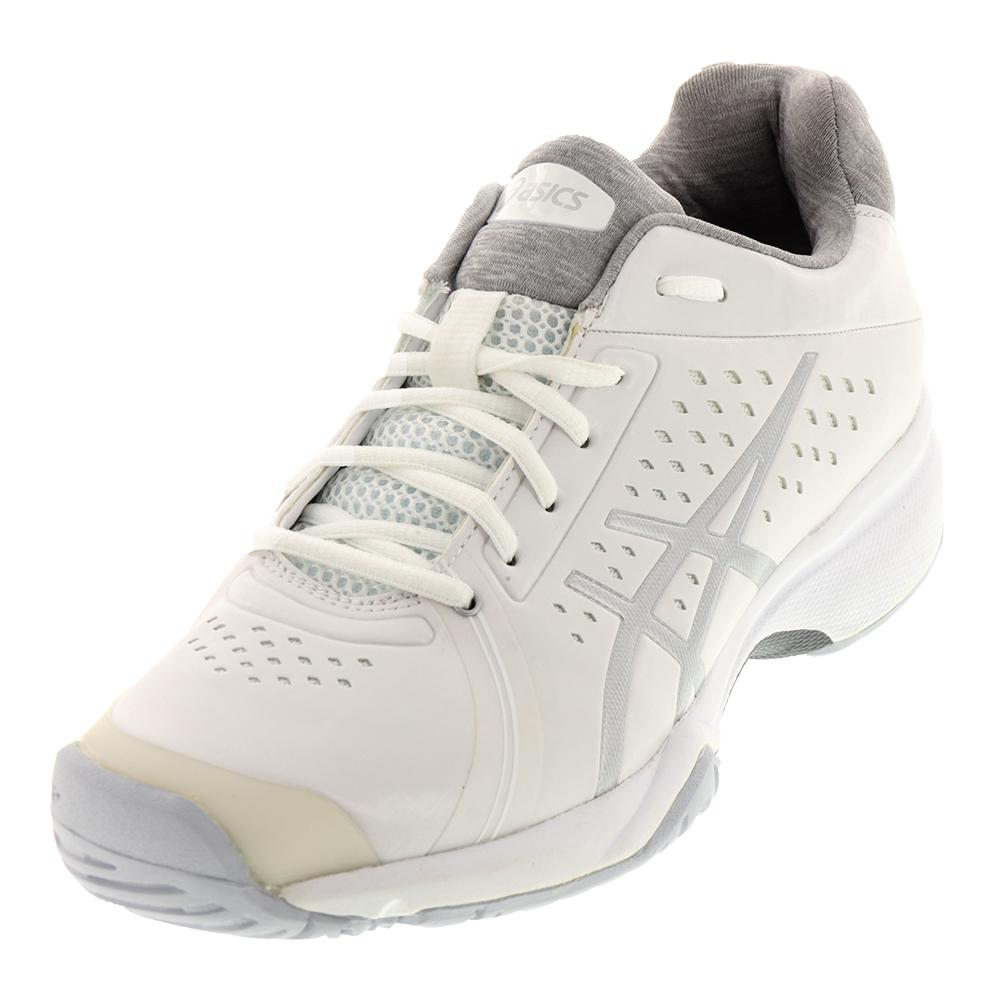 Women`s Gel-Court Bella Tennis Shoes White and Silver