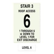 INTERSIGN NFPA-PVC1812(31A6) NFPASgn,StairId3,RoofAccssA,Flr Lvl 6 G0264638