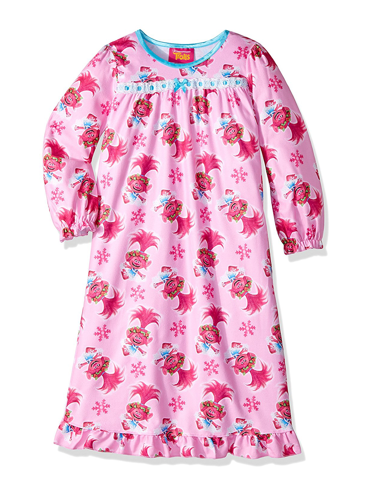 Trolls Toddler Girls Flannel Granny Gown Nightgown 21TP116TGL