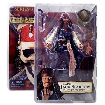 NECA Pirates of the Caribbean Series 3 Captain Jack Sparrow Action Figure - Captain Jack Sparrow Based On