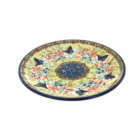 Polish Pottery Blue Butterfly Dessert Plate](Butterfly Plates)