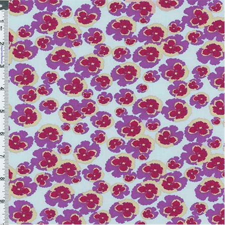 Berry Mix Nel Whatmore Secret Garden Flower Power Print Cotton, Fabric Sold By the Yard