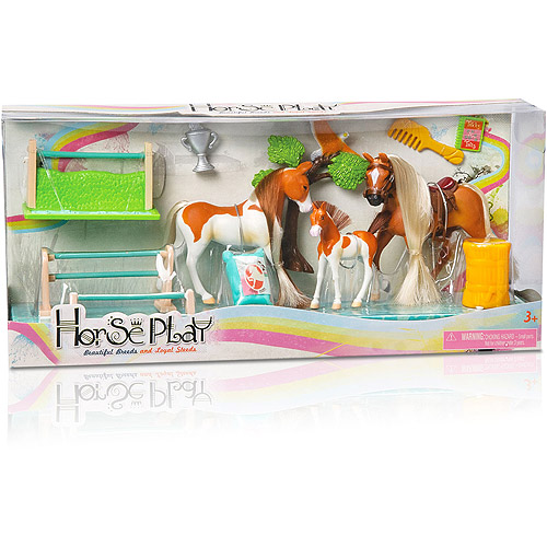 Horse Play Palomino and Paint Family Champions Horse Set