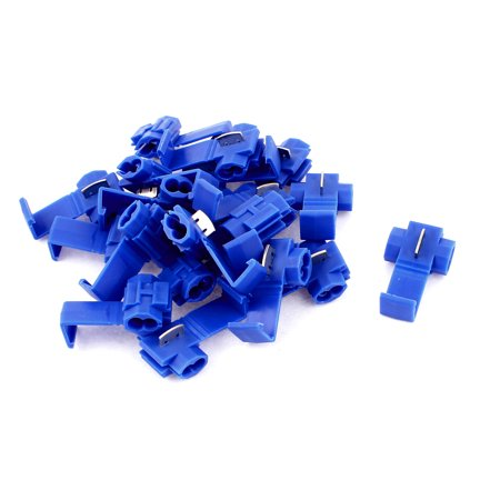 20 Pcs Blue Cable Connectors Quick Splice 18-14AWG Lock Wire Terminals Crimp Quick Splice Wire