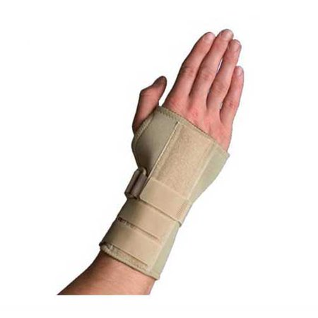Thermoskin Carpal Tunnel Brace w/ Dorsal Stay- X-Small - Black - Left