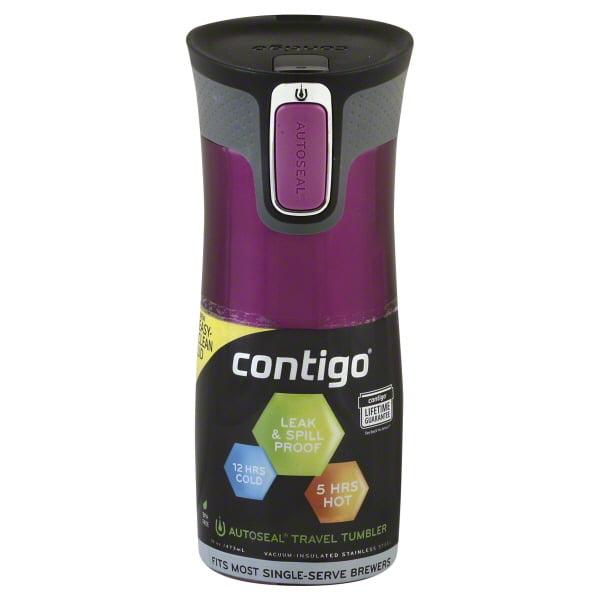 Contigo AUTOSEAL® West Loop 2.0 Stainless Steel Travel Mug, 16 oz., Orchid