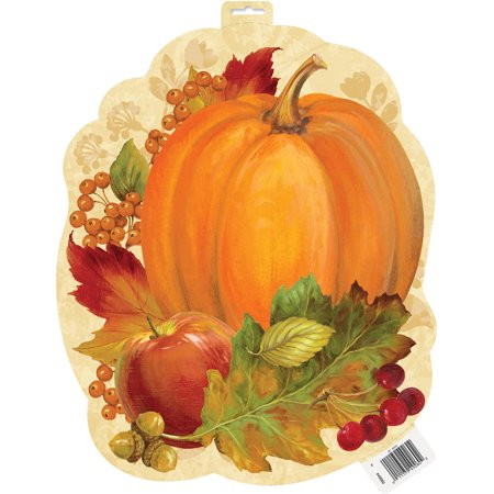 Halloween Cutouts Pumpkin (Paper Cutout Pumpkin Harvest Fall Decoration, 16.5 in,)