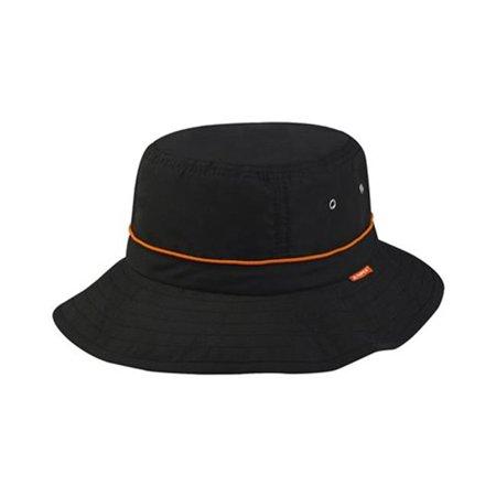 J7226 Taslon UV Bucket Hat With Adjustable Drawstring  44  Black -  Walmart.com 993b901905f