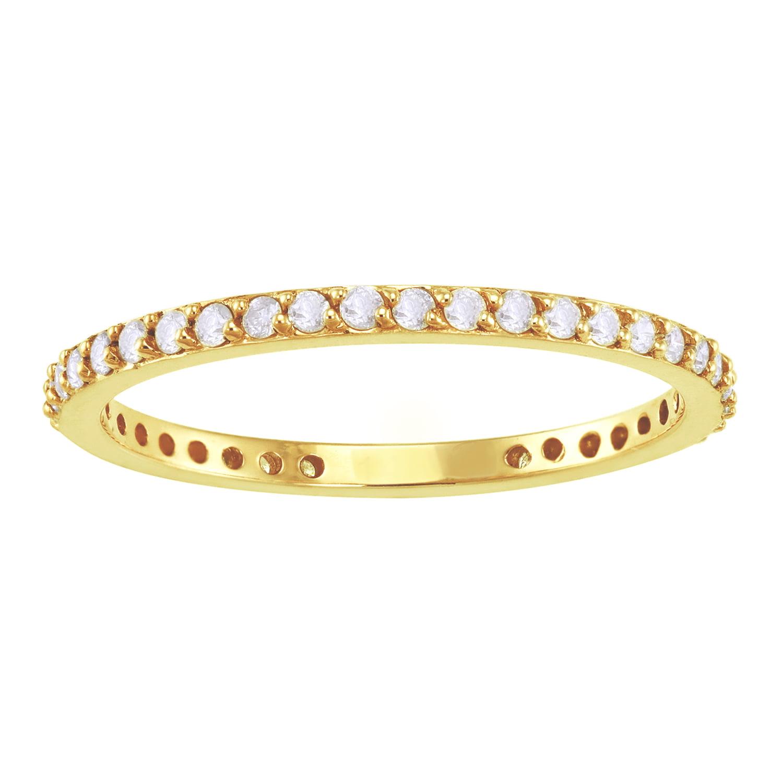 1/3 carat Diamonds Eternity Band Ring in 14K Yellow Gold