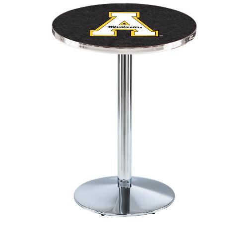 NCAA Pub Table by Holland Bar Stool, Chrome - Appalachian State, 42'' - L214
