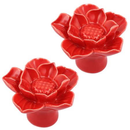 Cabinet wardrobe drawer door pull lotus flower shape ceramic knobs cabinet wardrobe drawer door pull lotus flower shape ceramic knobs 2pcs mightylinksfo